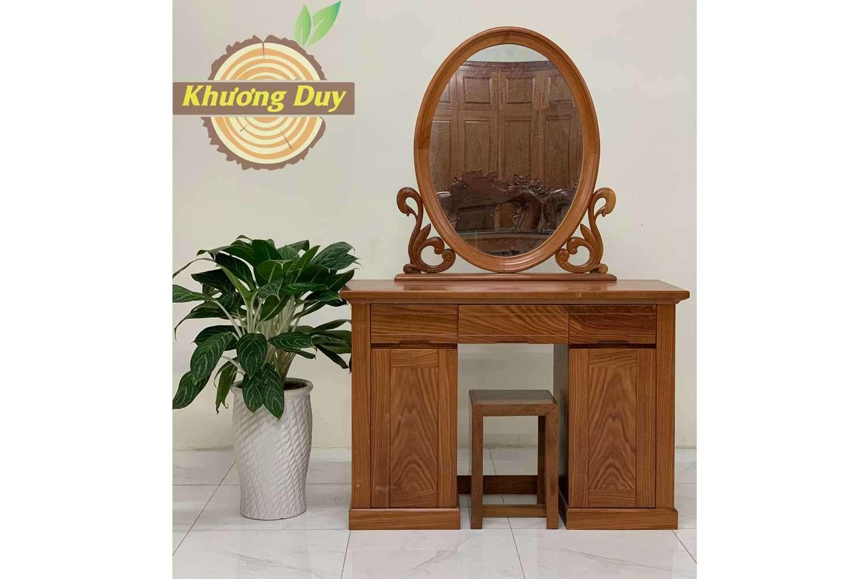 bàn trang điểm gỗ xoan đào đẹp