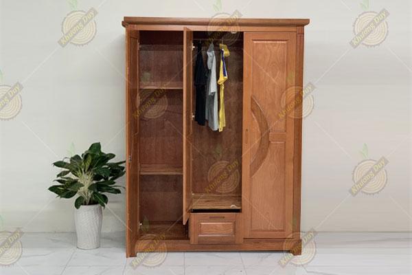 tủ quần áo 3 cánh gỗ xoan đào giá rẻ